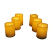 EcoGecko Set of 6 Flameless LED Votive Candles with Remote and Timer (4, 5, 6 and 8-hour timer options) LED Tealights - Indoor Outdoor Flickering Candles, Battery Operated
