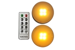 EcoGecko Set of 2 Remote Controlled w Timer  Multi Purpose LED lights, Under Cabinet Light, Closet Light, Storage Room Light, Pumkin Light, Candle Light