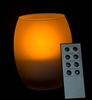 Remote Controlled Flameless LED Candle with Oval Frosted Glass Holder