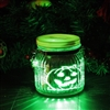 Candle Choice Halloween Pumpkin Mason Jar Light Indoor Outdoor Jar Light Battery Operated Lantern with Remote and Timer Halloween Light