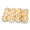 Candle Choice 12 PCS Realistic Flameless Candles with Timer, LED Tea Lights with Timer, Battery-operated LED Candles with Timer, Long Battery Life 200+ Hours, Battery Included, with Drips