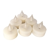 6 Piece Set Premium Flameless Tealights with Timer, LED Tealights, Battery Powered Tealights, Battery-operated Tea Lights with Timer, Long Battery Life, 200+ Hours Battery Life
