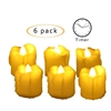 "Candle Choice 6 Pack Flameless LED Battery Votive Candles with Timer Realistic Flickering Battery Operated Votives Electric Candles Size-1.5""(D)x2""(H) with Drips Long Lasting Batteries Included"