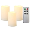 "3 Pack Candle Choice Outdoor Indoor Flameless LED Battery Operated Candles with Remote and Timer  Waterproof Realistic Flickering Electric Pillar Candles  Size-3""(D) x5""(H)"