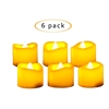 "Candle Choice Flameless LED Battery Votive Candles Realistic Flickering Battery Operated Powered Tea Lights Tealight Candles Size-1.5""(D)x1.5""(H) Long Lasting Batteries Included 6-Pack"