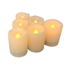 "Candle Choice 6-PackFlameless LED Battery Votive Candles Realistic Flickering Battery Operated Powered Votives Bright Electric Candles Size-1.5""(D)x2""(H) Long Lasting Batteries Included"