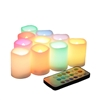 Candle Choice Set of 10 Multi-Color Flameless LED Votive Candles with Remote and Timer