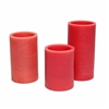 "Candle Choice Set of Three 3"" Even Edge Real Wax Flameless Candles with Timer"