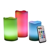 Candle Choice 3 PCS Real Wax Color Changing Flameless Candles with Remote and Timer, Multi Color